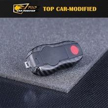 Envío libre 100% de Fibra de Carbono Genuina Sostenedor de La Cubierta Del Caso de Shell Remoto Clave para Porsche Panamera/Cayenne Boxter