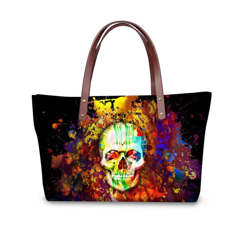 3D Skull Women Handbags Famous Brand Ladies Shoulder Top handle Bags for Female Travel Large Capacity Tote Bag
