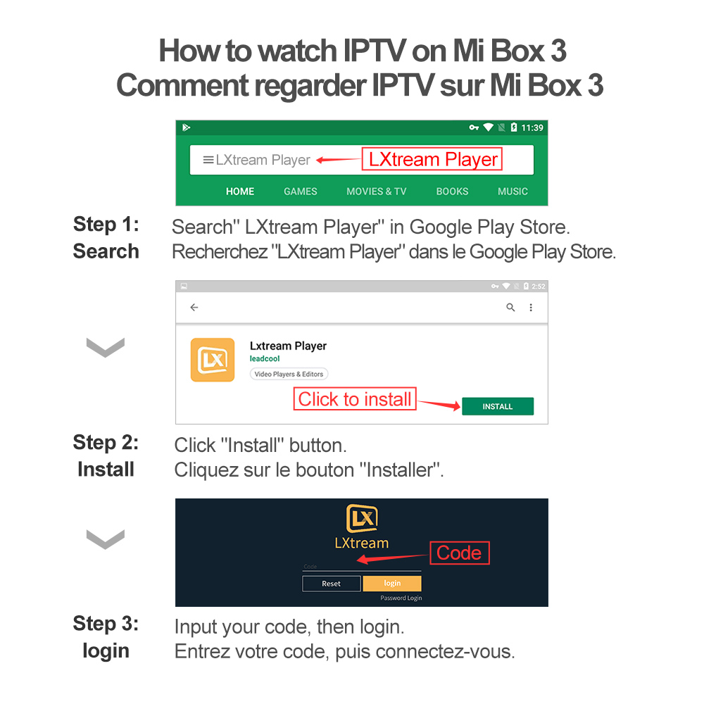 Image 3 - Xiaomi Mi Box 3 IPTV France Arabic IP TV Spain Portugal IPTV Subscription Qatar Belgium IPTV Morocco Turkey IP TV Full HD French-in Set-top Boxes from Consumer Electronics