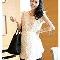 Для беременных Платья Одежда Для Беременных Летняя Одежда Сладкий Беременность Кормящих Платье Большой Размер Черный и Белый 075
