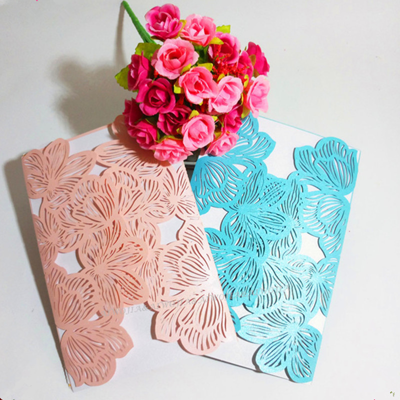 12*18 Cm Hot Sale 10pcs Wedding Party Laser Cut Invitations Card Baby Shower Kids Birthday Invitations Card 7z-sh072-10 Festive & Party Supplies