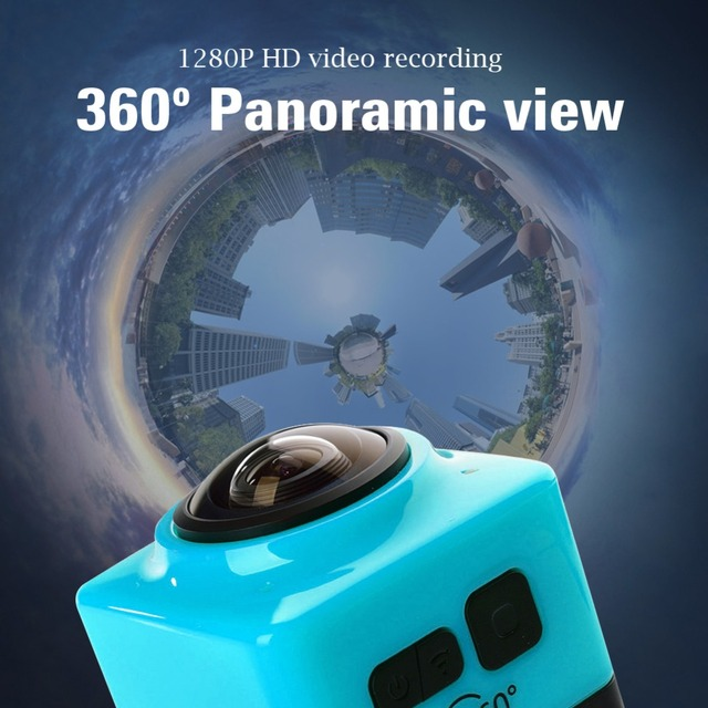 360 Degree Panoramic Camera Cube360 Sport Action Camera 720P mini Camera 360x190 Wide-Angle wifi 360 Video Camera Camcorder