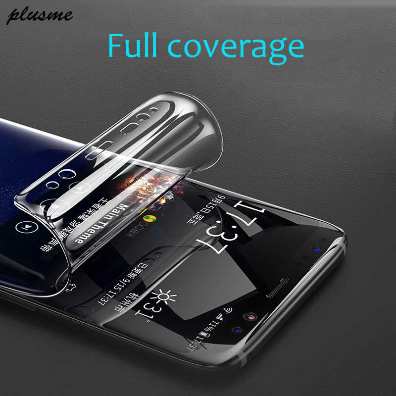 Plusme 3D Full Cover Soft Hydrogel Film For Samsung Galaxy S8 S9 A8 Plus Soft Film For Samsung S7 Edge Note 8 9 ( Not Glass )