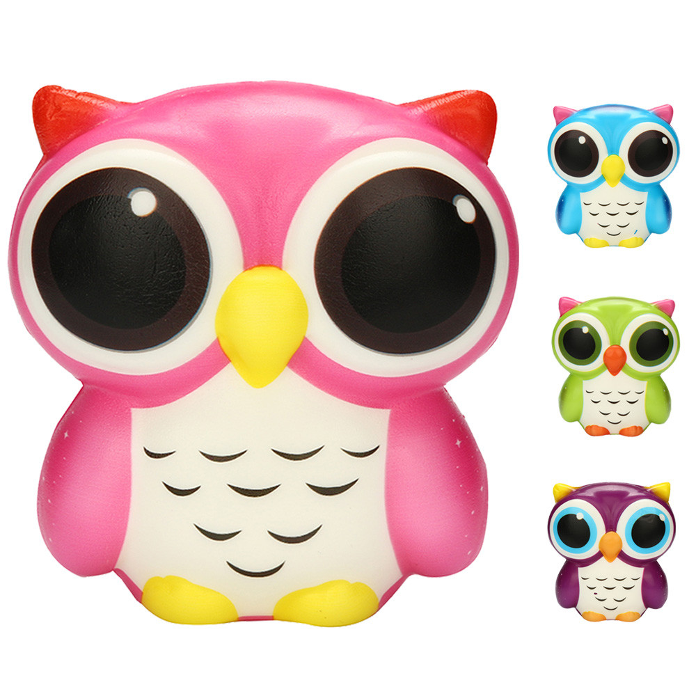 New Owl Shape Squeeze Toy Adorable Owl Squishy Slow Rising Cartoon Doll Cream Scented Stress Relief Toy Children Adults /PY