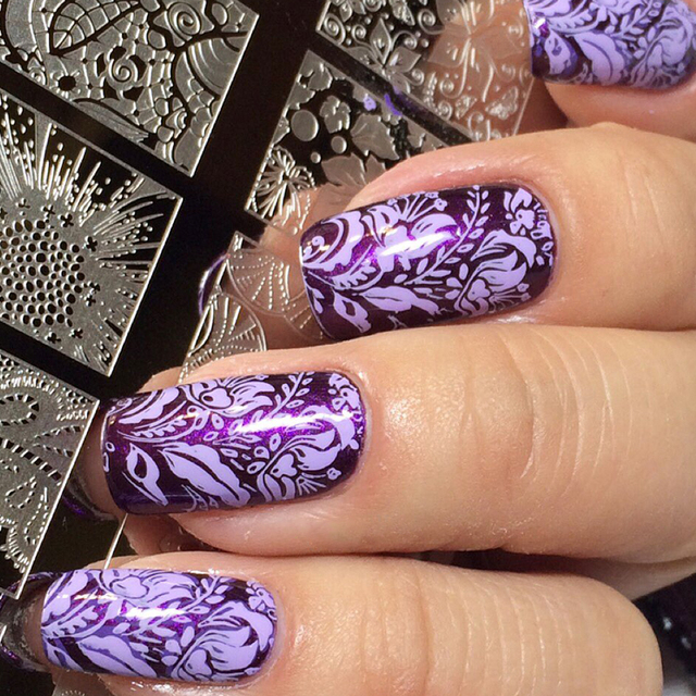 Fashion Beauty Stainless Steel Stamp Nail Plates Rose Flower Leaves