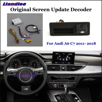 Car Rear View Rearview Backup Camera For Audi A6 C7 2011- 2018 Reverse Reversing Parking Camera Full HD CCD Decoder Accessories car rear view rearview backup camera for audi a1 8x 2010 2018 reverse reversing parking camera full hd ccd decoder accesories