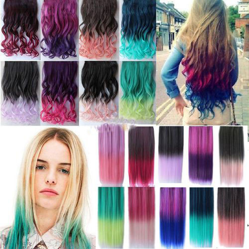 Christmas gift women colorful hair ombre hair extensions 20pcslot christmas gift women colorful hair ombre hair extensions 20pcslot curly hair clip in on pmusecretfo Choice Image