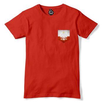 Brand Summer Style Cotton Men'S Unique Vintage Print Pocket Poland Polska Flag Tshirt Mens Polski Footballer Sporter T Shirts