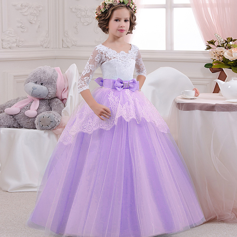 High quality children party   dress     girls   first communion   dresses     flower     girl     dress   for party   dresses   child baby costume LP-203