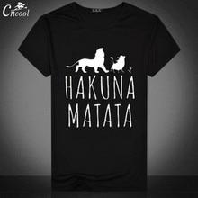 877159df7cd The Lion King Man s T-shirt Streetwear Hakuna Matata Print Shirt Short  Sleeve Casual T Shirt 2018 for Men Funny Tops