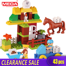 Clearance Sale Preschool 43pcs Big Size Building Block Toys for Children My Town Large Bricks with Figures Compatible With Duplo