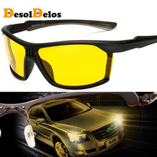 где купить Mens Polarized Night Driving Sunglasses Men Brand Designer Yellow Lens Night Vision Driving Glasses Goggles Reduce Glare 2019 по лучшей цене