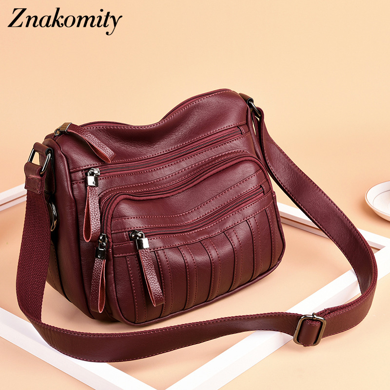 Znakomity Fashion Messenger Bag Women Soft PU Leather Small Black Shoulder Bags Ladies Casual Patchwork Crossbody Flap Bags 2019Znakomity Fashion Messenger Bag Women Soft PU Leather Small Black Shoulder Bags Ladies Casual Patchwork Crossbody Flap Bags 2019