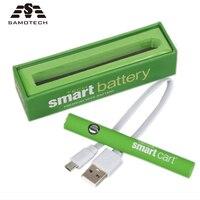 5pcs more lot Smart Cart Electric cigarette 380mAh Battery fit 510 Thread For Dank vapes CBD liquid oil Atomizer e cigarette pen