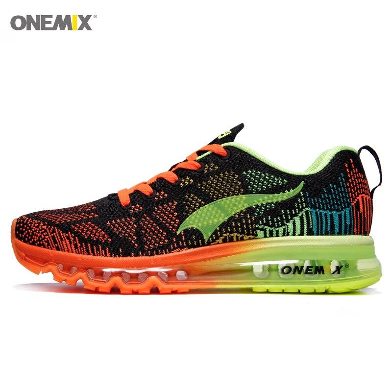 Onemix hommes de sport chaussures de course espadrilles de rhythm hommes respirant maille chaussures de sport en plein air lumière mâle chaussures taille l'UE 39-47