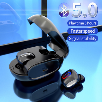 EnohpLX New G2 TWS Invisible Bluetooth Earphone 5.0 Touch Control Mini Wireless Headset Automatic Pairing Earphone