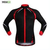 WOSAWE Unisex Autumn Winter Cycling Jacket Warm Long Sleeve Fleece Lining Cycling Wind Coat Cycling Dust Coat Hot