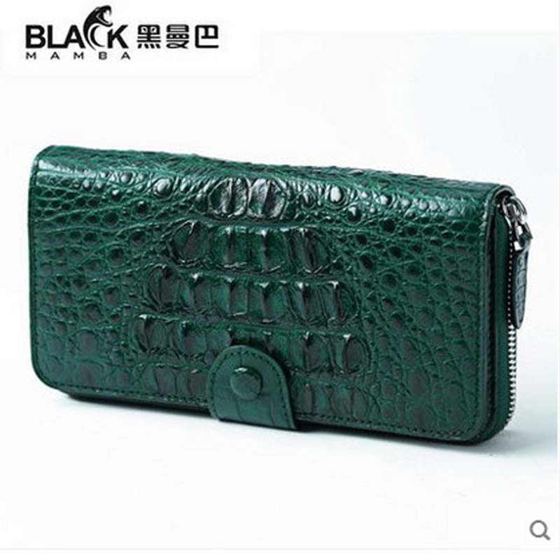 2018 heimanba  new hot  purse female long zipper more crocodile leather women days clutches lady's hand bag crocodile women bag yuanyu new crocodile wallet alligatorreal leather women bag real crocodile leather women purse women clutches