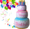 2016 New PVC Original inflatable Big Birthday Cake Large Artificial Cakes Model 105CM High Children Party Decoration Props Toy