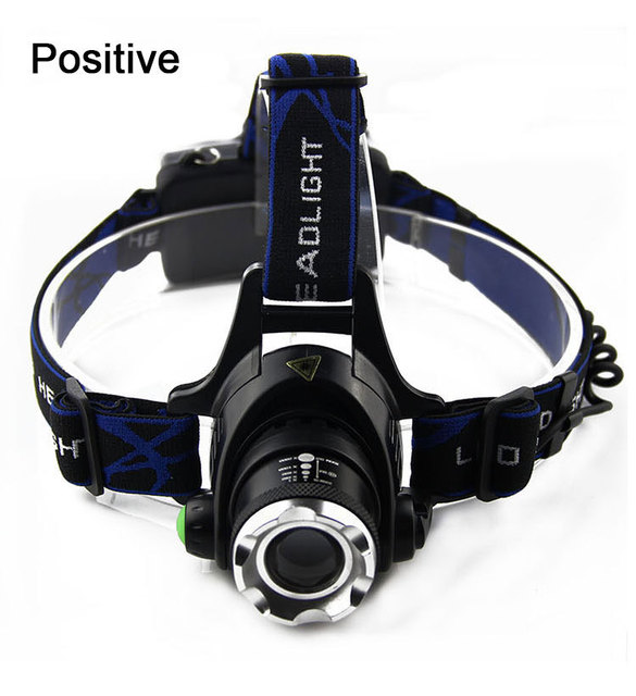 TRANSCTEGO CREE XML-T6 zoomable led Headlight rechargeable head lamp Strong light flashlight LED Waterproof Fishing lights