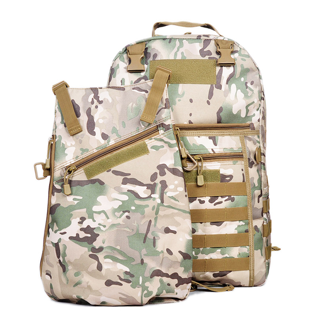 78adc8758b50 Outdoor Waterproof Oxford Cloth Military Rucksack Tactical Backpack Bag ACU Camouflage  Sports Travelling Hiking Bag