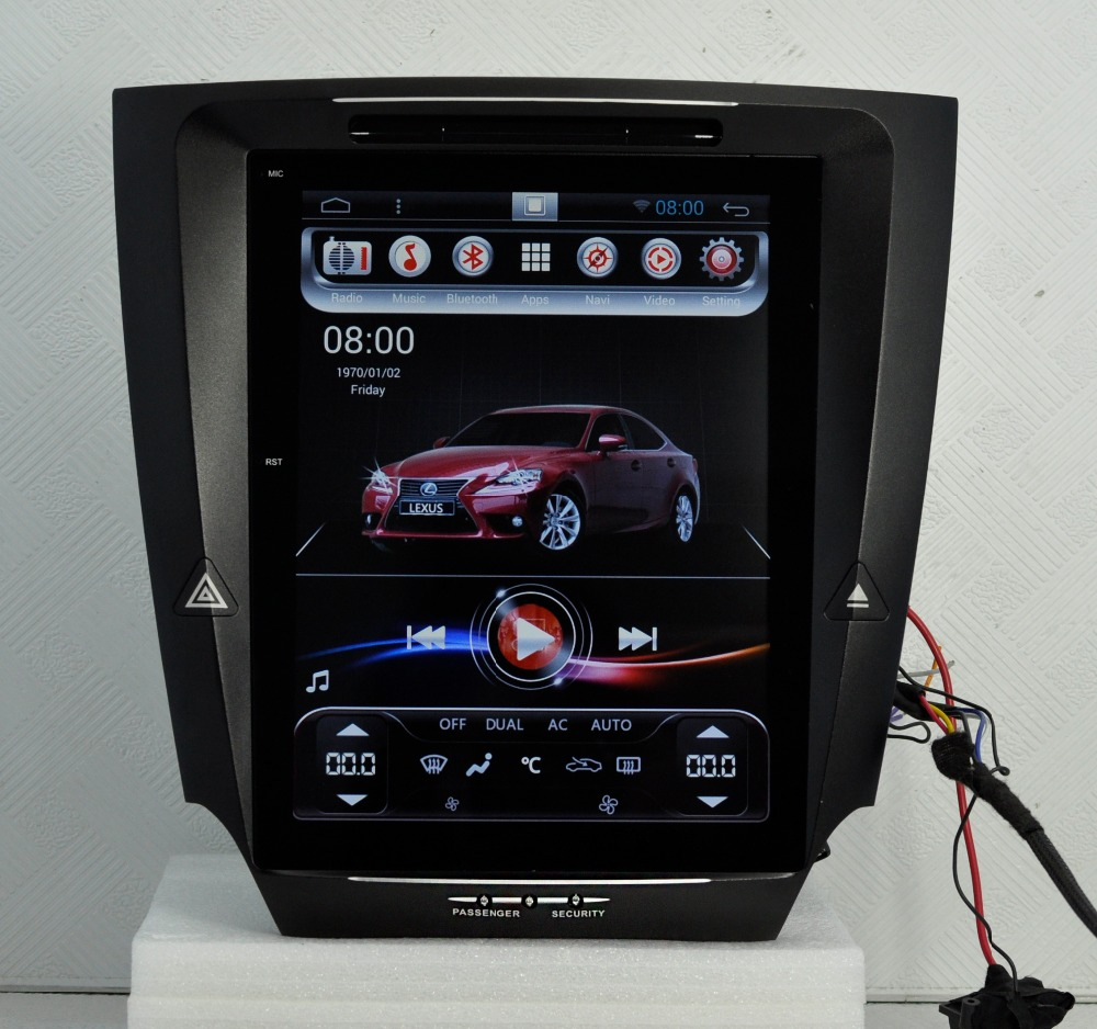Vertical screen 10 4 inch car font b multimedia b font navigation for LEXUS IS250 IS300