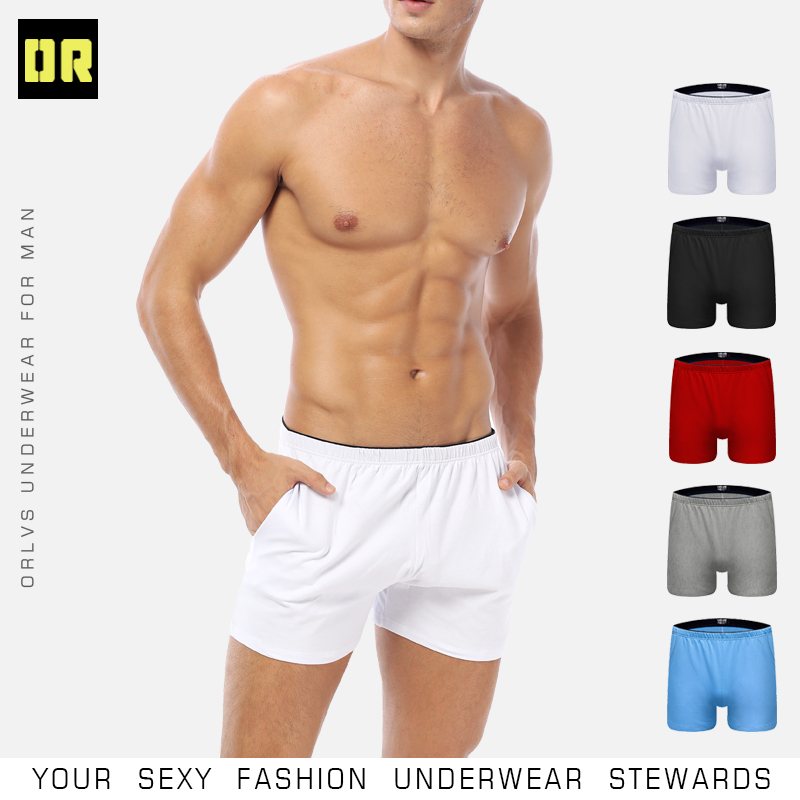 ORLVS Brand Sexy Men Underwear Soft Breathable Underwear Male Comfortable Solid Panties Underpants Cueca Boxershorts Homme