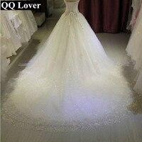 QQ Lover 2018 Новый Винтаж свадебное платье Роскошные бисером заказных плюс Размеры невесты свадебное платье Vestido De Noiva