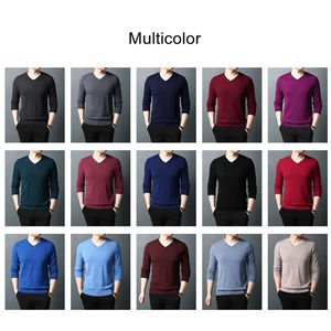 Image 4 - COODRONY Brand Sweater Men Pure Merino Wool Mens Sweaters Autumn Winter Thick Warm Cashmere Pullover Men V Neck Pull Homme 93014