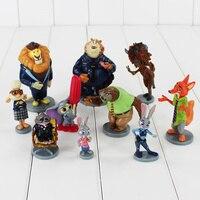 Dhl 50 set/lotto zootopia judy hopps nick wilde flash mr. big ele-finnick figura i giocattoli in pvc con base grande regalo 5 ~ 10 cm