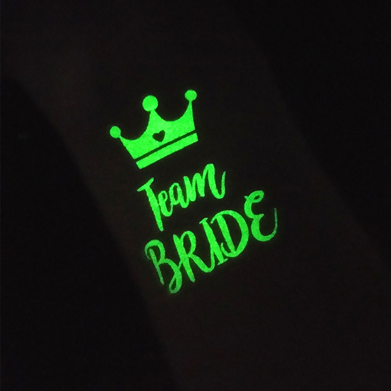 Glow In The Dark 25pcs Bride Temporary Tattoos