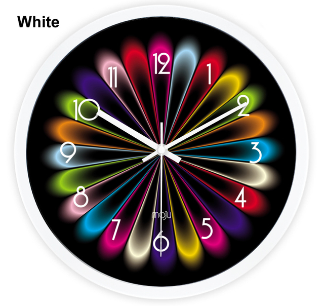 Cool Wall Clock Classic Parlor Multi Colored Wall Clock Personality 12  Inches Gorgeous Wall Clock