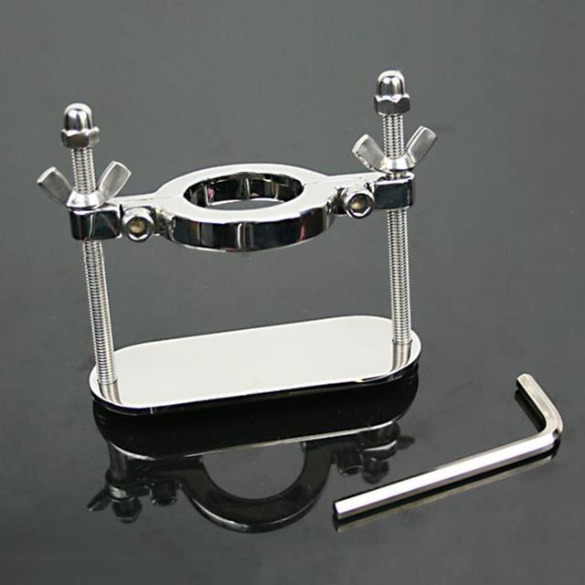 Aço inoxidável escroto maca de metal anel peniano anel de pénis anel bola maca crotum Peso para CBT sexo produtos para homens