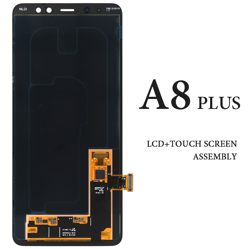 For Samsung Galaxy A8 Plus 2018 A730F A730X LCD Display 6 Black AMOLED No Dead Pixel Touch Screen Assembly Replacement Parts  For Samsung Galaxy A8 Plus 2018 A730F A730X LCD Display 6 Black AMOLED No Dead Pixel Touch Screen Assembly Replacement Parts
