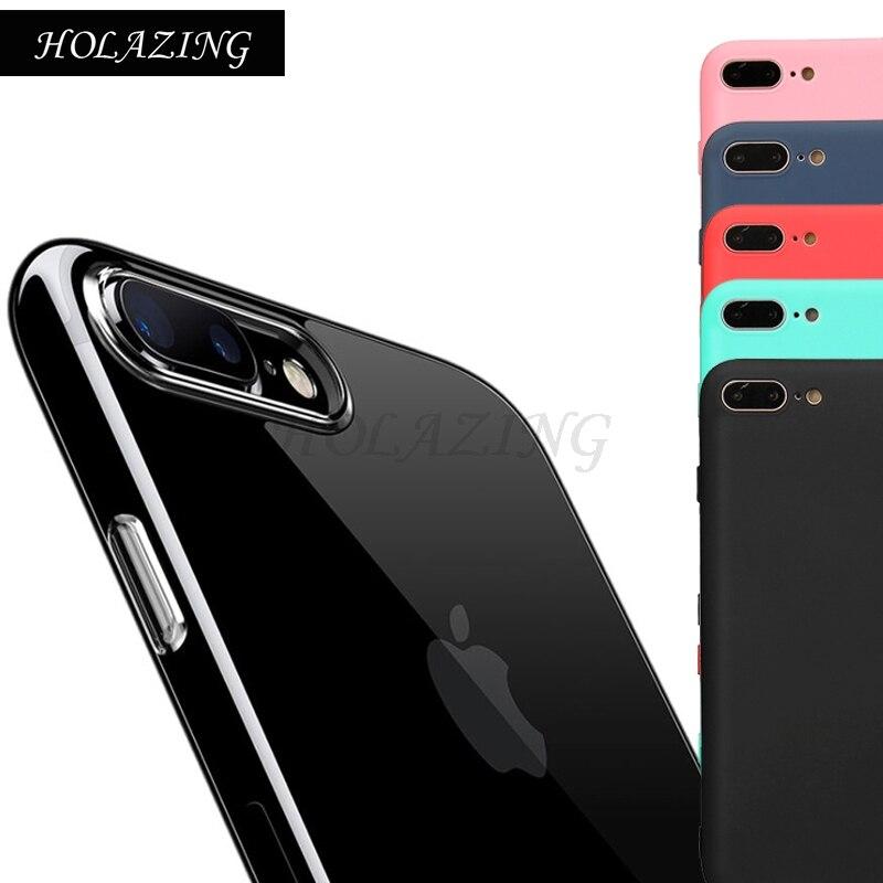 HOLAZING прозрачный гель ТПУ Резиновая Мягкий силиконовый чехол для iPhone 8 плюс крышка ультра тонкий защитная крышка кожи