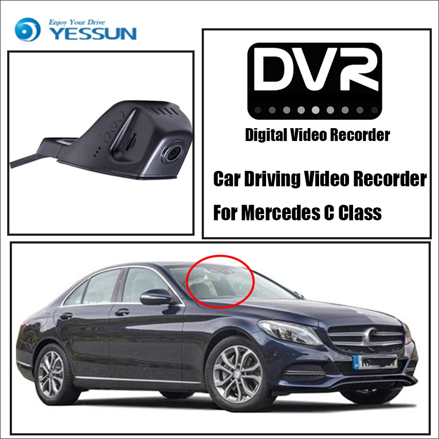 YESSUN - Front Camera Dash Black Box HD 1080P Not Reverse Parking Camera/ Car DVR Digital Video Recorder For Mercedes C Class yessun for mercedes benz c class w204 c180 c200 2010 2014 car dvr driving video recorder front camera black box dash cam