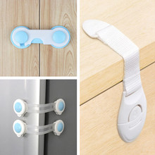10pcs Child Safety Cabinet Lock Baby Proof Security Protector Drawer Door Cabinet Locking Plastic Protection Kids Lock Baby Care(China)