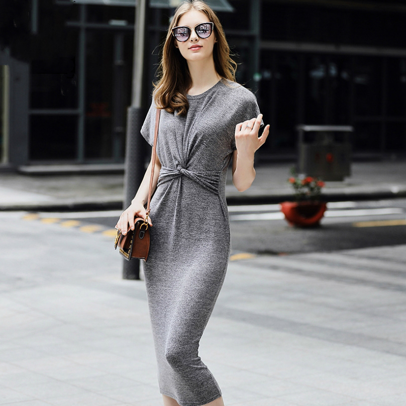 Compra simple grey dress y disfruta del envío gratuito en AliExpress.com 26b341a5a7be