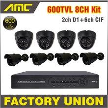 4pcs Dome Camera 4pcs IR Bullet Camera Outdoor Surveillance Camera Security CCTV System 4ch Channel CCTV Kit Surveillance System