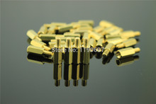 DIY HIFI Single Head Screw Column Six Angle Copper Stud Isolation Column M3*4+4~M3*6+6~M3*8+4mm 100PCS Free Shipping