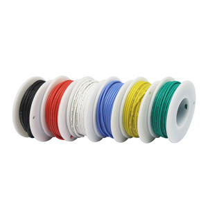 Image 5 - 30/28/26/24/22/20/18awg 6 color flexible silicone wire tinned copper wire (6 color hybrid twisted wire kit) wire and cable DIY