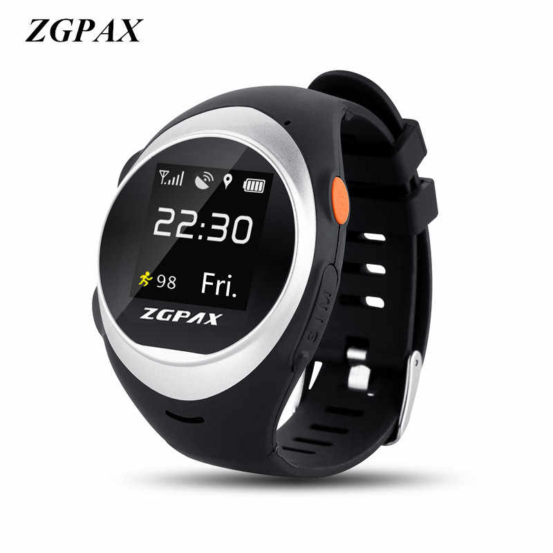 ZGPAX Smart Watch With SOS GPS Smartwatch S888 WIFI Anti Failing Alarm Tracker For Man Woman Kids Gift Freight free