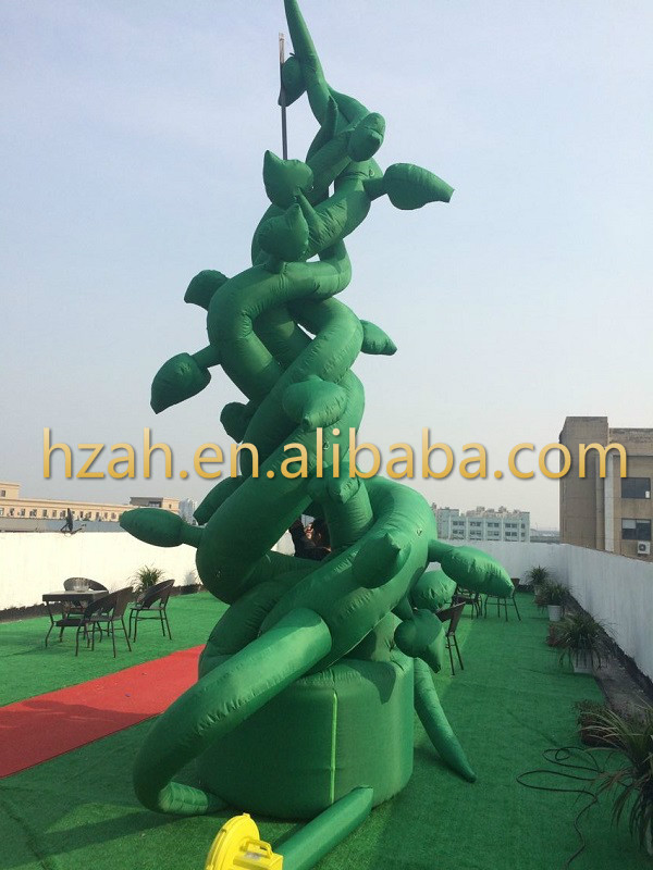 Giant Green Inflatable Beanstalk Tree for Stage Decoration inflatable cartoon customized advertising giant christmas inflatable santa claus for christmas outdoor decoration