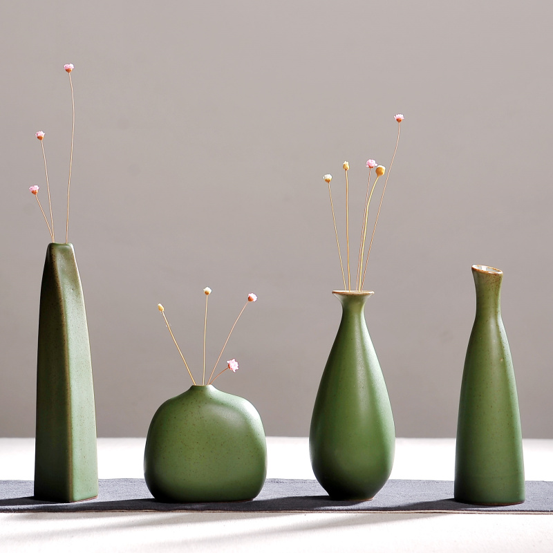 Modern fashion Home Furnishing, small handmade chinese ceramic vases, flower pottery vase, desk accessories, crafts