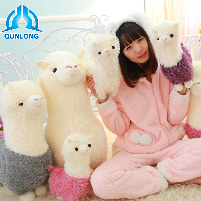 Qunlong Kawaii Plush Alpaca Dolls Pillow Toys Cute Llama Alpacasso Stuffed Toys Japanese Stuffed Animals Doll Children Kids Gift аксессуар защитное стекло alcatel one touch idol 4s 6070k luxcase 0 33mm 82195