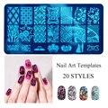 DIY 10 Padrões de Aço Inoxidável Nail Art Stamping Plates Selo Do Prego Manicure Impressora Polaco Ferramenta Stencils Templates Unhas Stamp