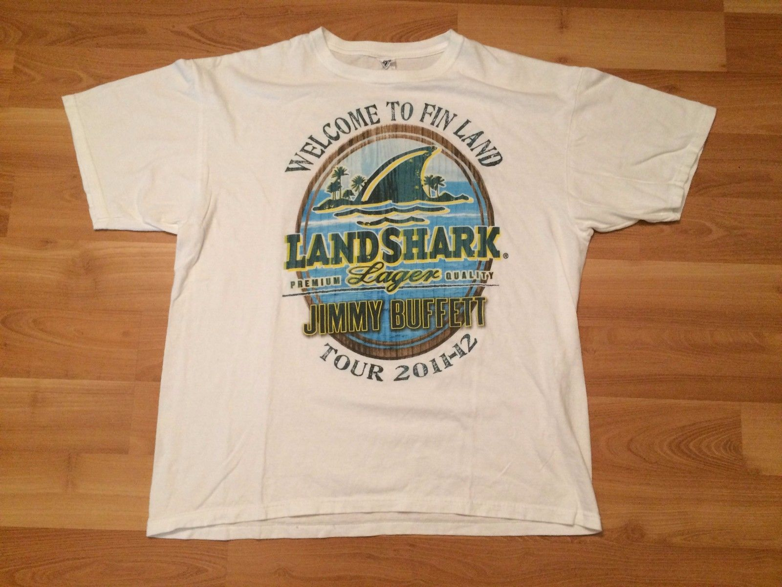 US $13 91 13% OFF|2011 JIMMY BUFFETT CONCERT T SHIRT MENS XL WELCOME TO  FINLAND LANDSHARK LAGER-in T-Shirts from Men's Clothing on Aliexpress com |