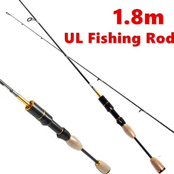 ФОТО Free Shipping 1.8m UL Fishing Rod High Carbon 2 Section Ultra Light Spinning Rod