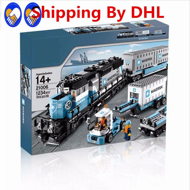 A Toy A Dream New LEPIN 21006 1234Pcs Technic Series Maersk Train Model Building Kits Blocks Bricks Compatible Toys Gift 10219 ноутбук dell vostro 5468 5468 1083 5468 1083