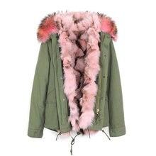 Winter Jacket Women 2017 Real Fox Fur Coat Female Warm Fur Jackets Natural Raccoon Fur Collar Real Fur Lining Parka Detachable